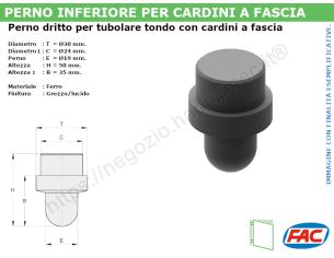 Profilo piatto zincato 50x15 in barre da 2 metri
