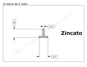 Angolare grezzo 30x3 in barre da 3 metri