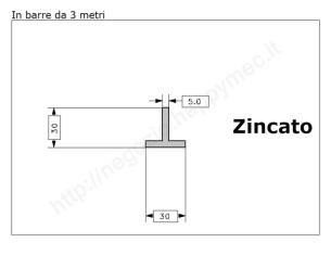 Angolare grezzo 40x4 in barre da 1 metro
