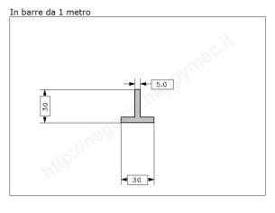 Angolare grezzo 40x4 in barre da 2 metri