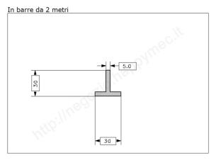 Angolare grezzo 40x4 in barre da 3 metri